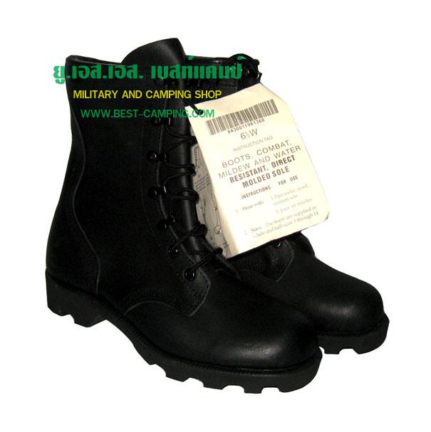 รองเท้าคอมแบท,คอมแบทโรเสริท์ ,รองเท้าทหาร,คอมแบทหนังดำ,COMBAT RO-SEARCH