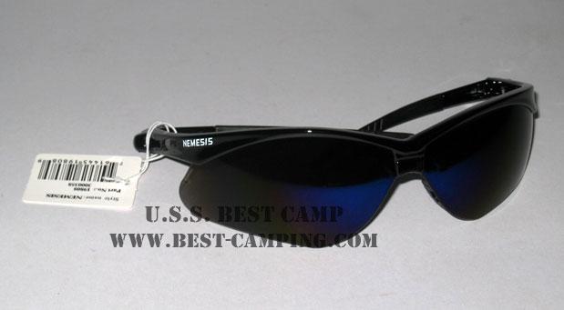 แว่นตาเซฟตี้ , แว่นตากันสะเก็ด , แว่นตา NEMESIS - 19808 , Black Frame , Smoke Blue Lens
