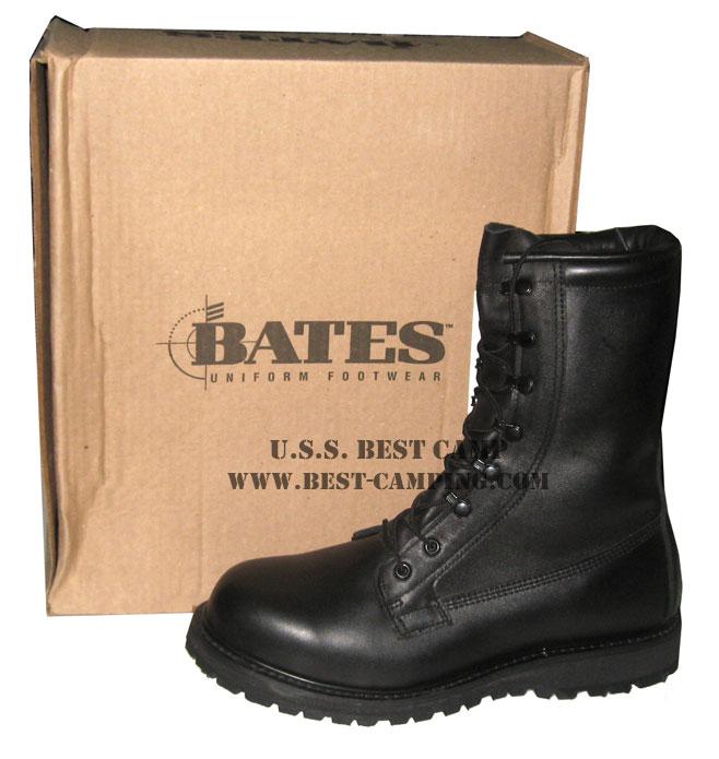 รองเท้าคอมแบทกอร์เท็กซ์,BATES GORE-TEX BLACK LEATHER BOOTS