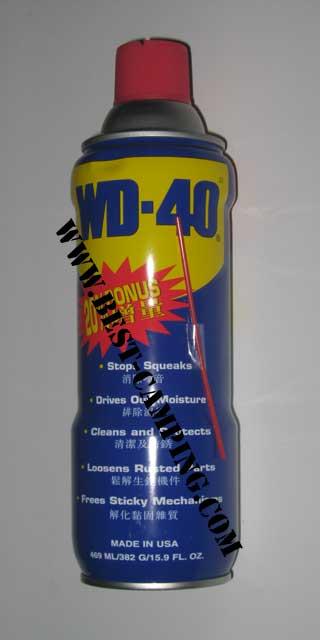WD-40 (น้ำยาทำความสะอาดสารพัดประโยชน์)