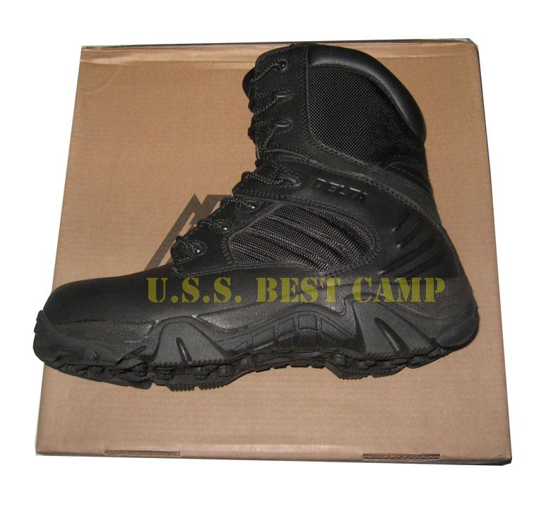 DELTA HI ZIPPER BLACK (รองเท้าบูตเดลต้าสีดำ)