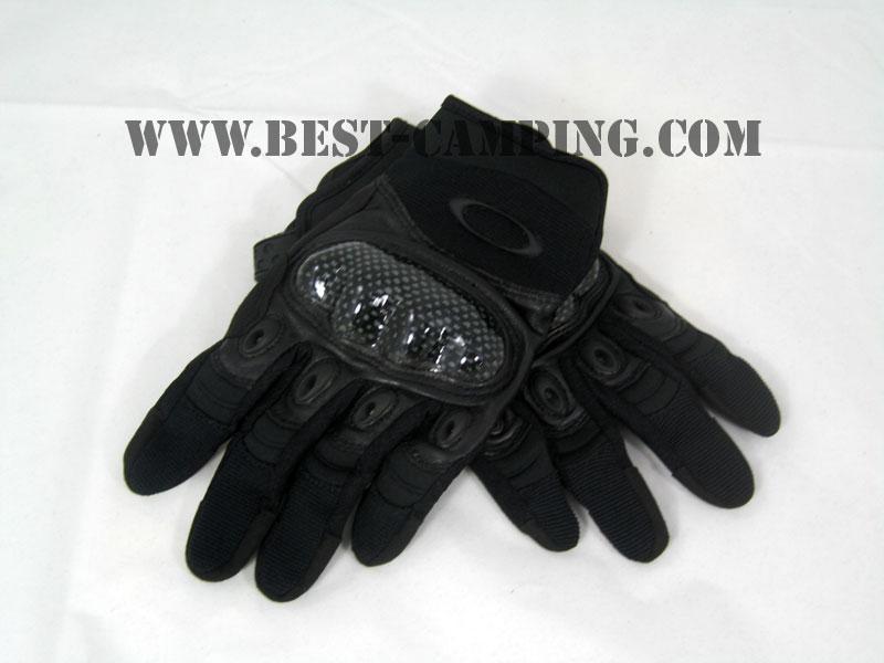 GLOVES, OAKLEY FULL BLACK (ถุงมือ OAKLEY เต็มนิ้ว สีดำ)