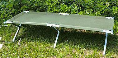 เตียงสนามยูเอสสีเขียว,ALUMINIUM FRAME FOLDING CAMP BED US GREEN