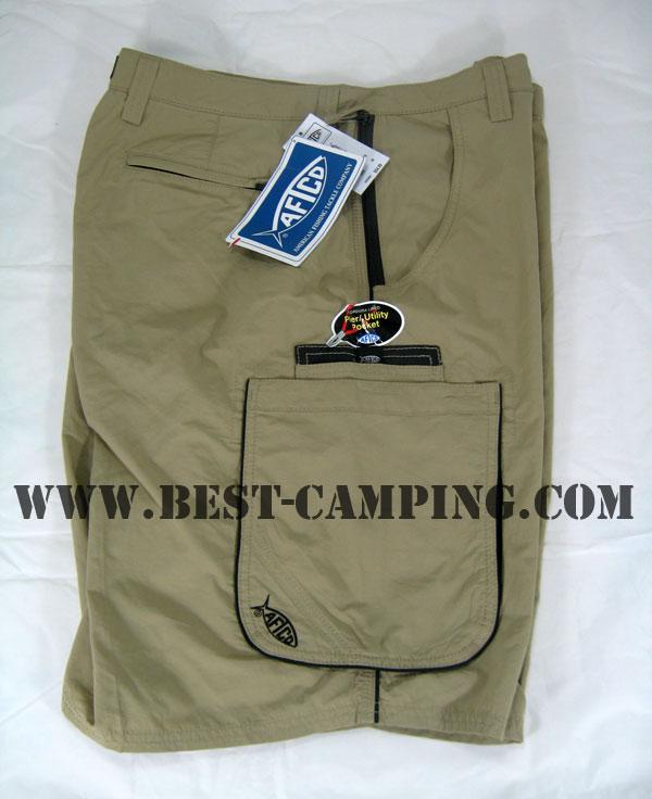 AFTCO Bluewater M02 Long Range Fishing Shorts(BLUE WATER) / KHAKI