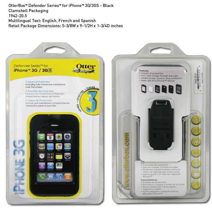OTTERBOX DEFENDER SERIES FOR iPHONE3(ซองกันกระแทก iphone 3)
