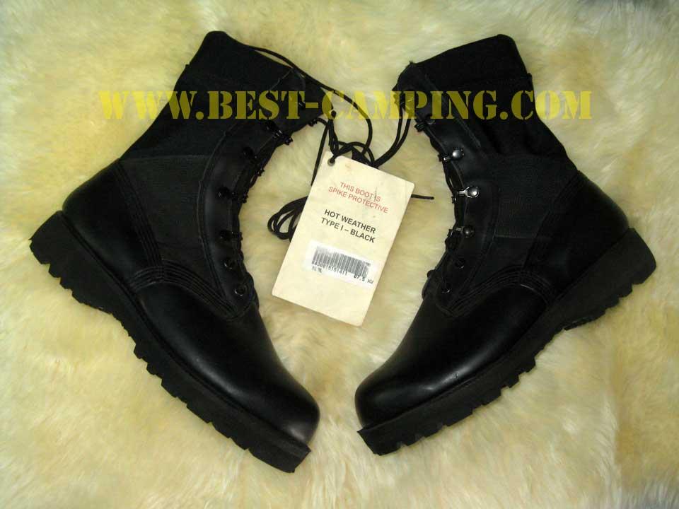 JUNGLE BLACK HOT WEATHER TYPE-I VIBRAM (รองเท้าจังเกิ้ลดำ US )