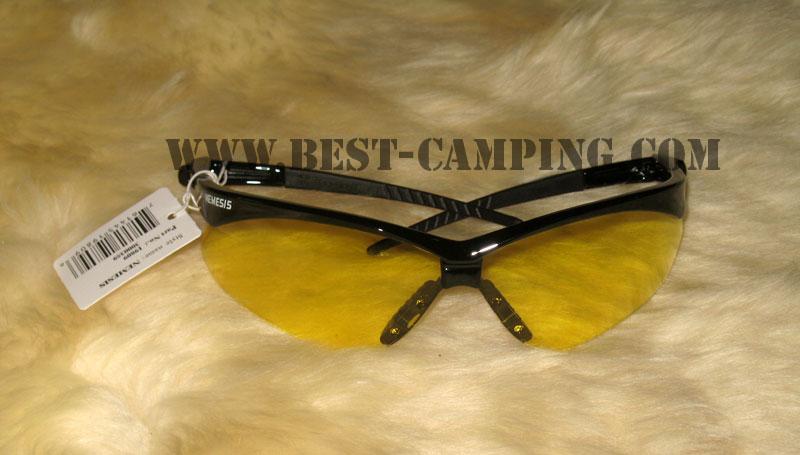 แว่นตาเซฟตี้ , แว่นตากันสะเก็ด , แว่นตา NEMESIS , BLACK FRAME AMBER LENS SAFETY GLASSES