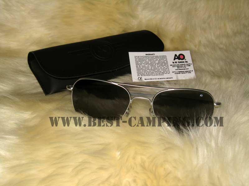 แว่นตานักบิน , แว่นตา AO ORIGINAL PILOT SILVER 52 x 20 x 140 MM (กรอบเงืนด้านหรือสีตะกั่ว)