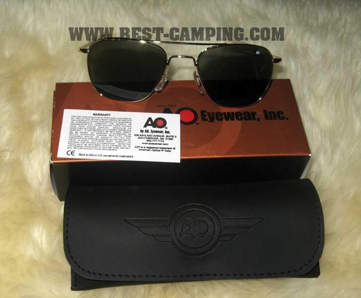 แว่นตานักบิน , แว่นตา AO ORIGINAL PILOT 52 - 20 - 140 MM (GOLD / กรอบสีทอง)