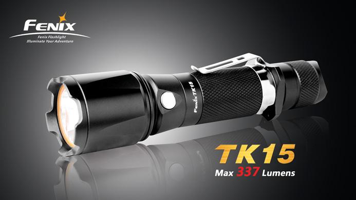ไฟฉาย ฟินิกซ์ ทีเค15 , Flashlignt Fenix TK15 R5 337 Lumens