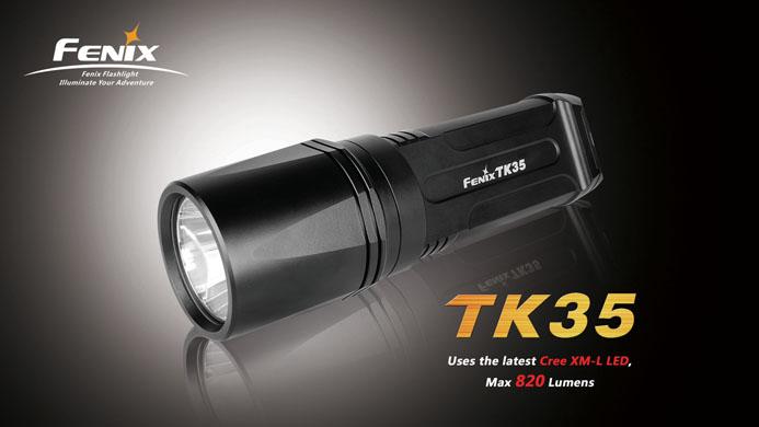 ไฟฉาย ฟินิกซ์ ทีเค35 , Flashlignt ไฟฉาย Fenix TK35 Cree XM-L LED 820 LUMEN