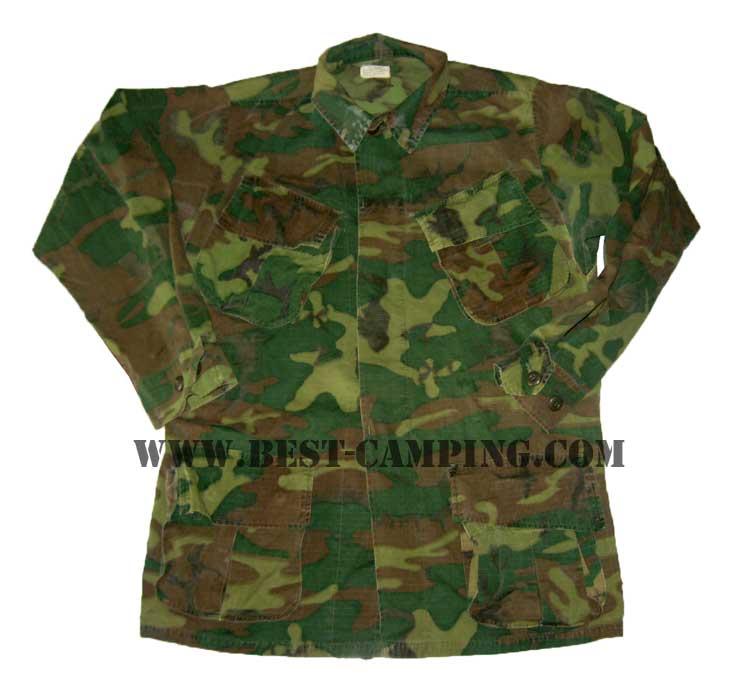 เสื้อกระเป๋าเฉียงลายพรางรุ่นเวียดนาม , สงครามเวียดนาม ,COAT,MAN\'S CAMOCUFLAGE COTTON WIND RESISTANT