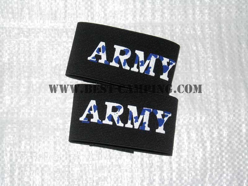 ยางยืดรัดขากางเกงทหาร , รัดท็อปสีดำ ,ฺ ARMY BOOT BLOUSER