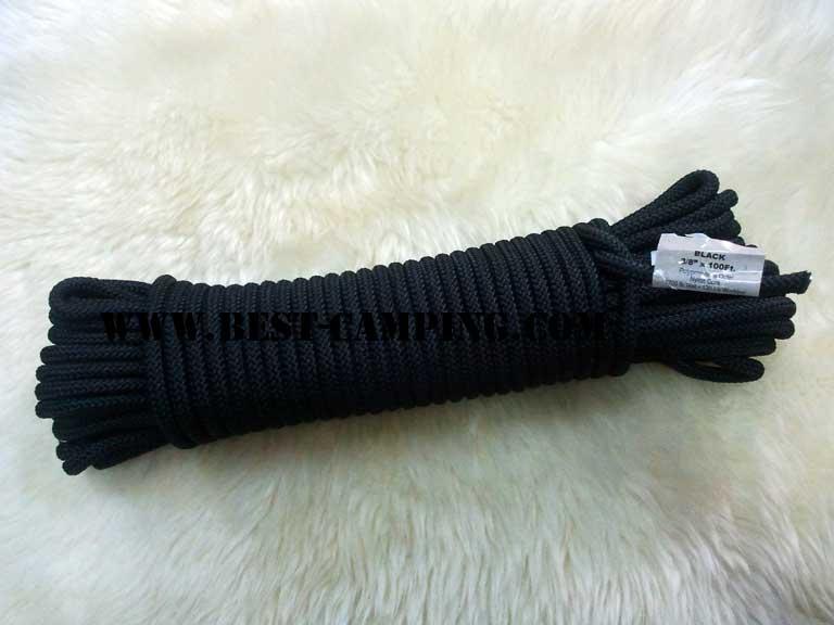 เชือกโรยตัว 3/8 นิ้ว สีดำ , Abseil rope.Black 3/8 inch x 100Ft.