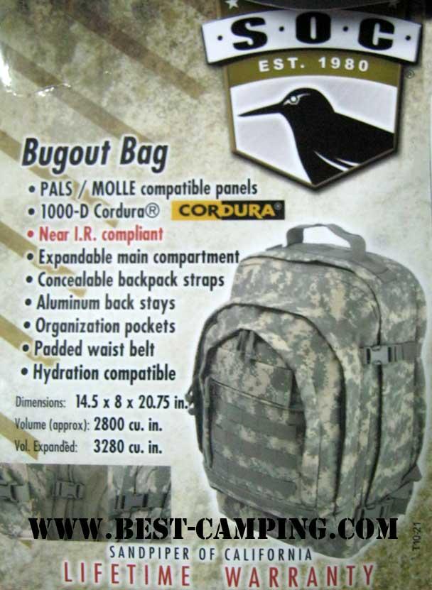 S.O.C Bugout ACU,เป้ tactical,กระเป๋ายุทธวิธี,เป้สนามสะพายหลัง, Camping Survival , SANPIPER OF CALIF