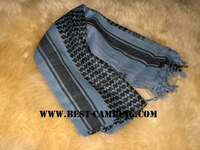 ผ้าชีมัคสีฟ้าโทนเทา,ดำ,ผ้าโพกหัว,ผ้าคาดหัว,ผ้าพันคอ,ผ้าอเนกประสงค์ , Shemagh ,Blue Dark,Black