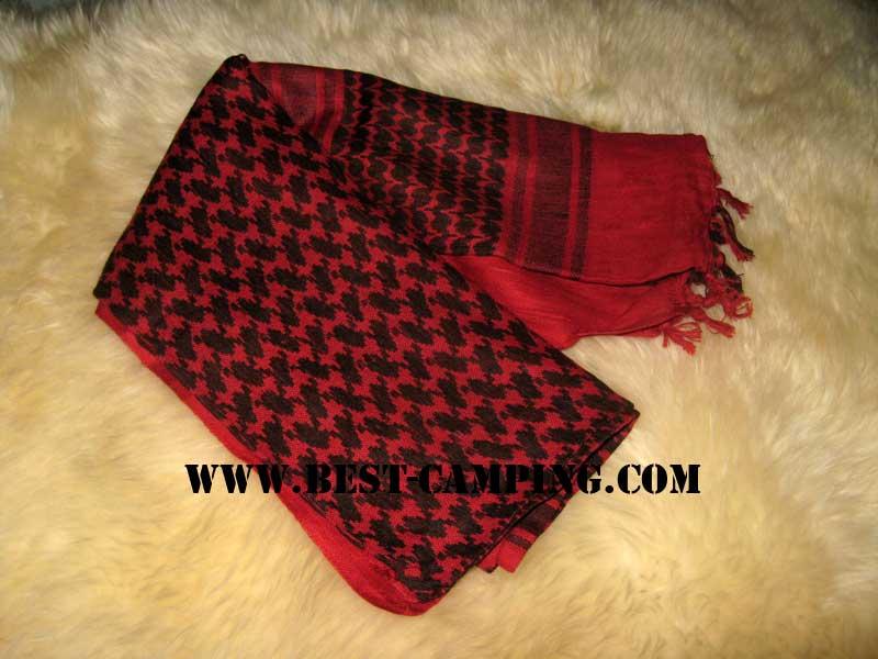 ผ้าชีมัคสีแดง,ดำ,ผ้าโพกหัว,ผ้าคาดหัว,ผ้าพันคอ,ผ้าอเนกประสงค์ , Shemagh ,RED,Black
