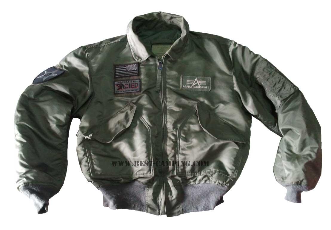 แจ็ตเก็ตนักบิน,เสื้อแจ็คเก็ตไฟท์,สีเขียว,คอปก,JACKET FLYER\'S-CWU-45-P(N),ALPHA,GREEN