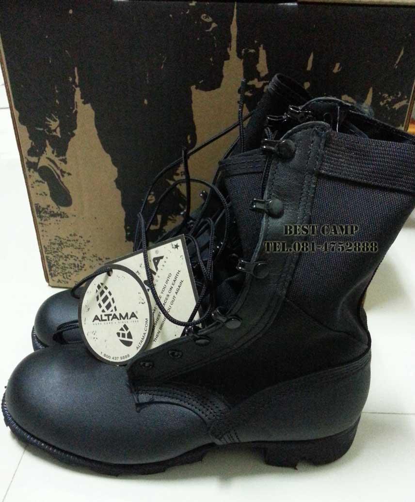 รองเท้าจังเกิ้ลดำ,โรเสริท์,(Blk,jungle Vulc Ro-Search),รองเท้าทหาร, US Ro-Search ALTAMA