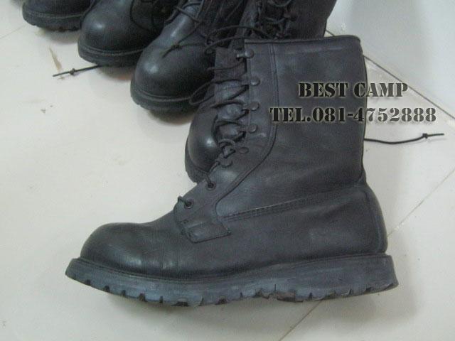 รองเท้าคอมแบทกอร์เท็กซ์,COMBAT GORE-TEX BLACK LEATHER BOOTS(มือสอง)