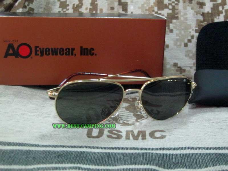 แว่นตานักบิน,AO GENERAL 52 x 14 x 145mm ORIGINAL PILOT LENS GOLD,AO GN52GWSTC/(กรอบทองเลนส์ดำ)