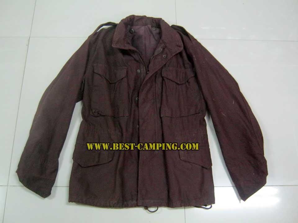 JACKET FIELDS M65 เสื้อแจ็คเก็ต M-65 สี น้ำตาลเลือดหมู (มือ 2)