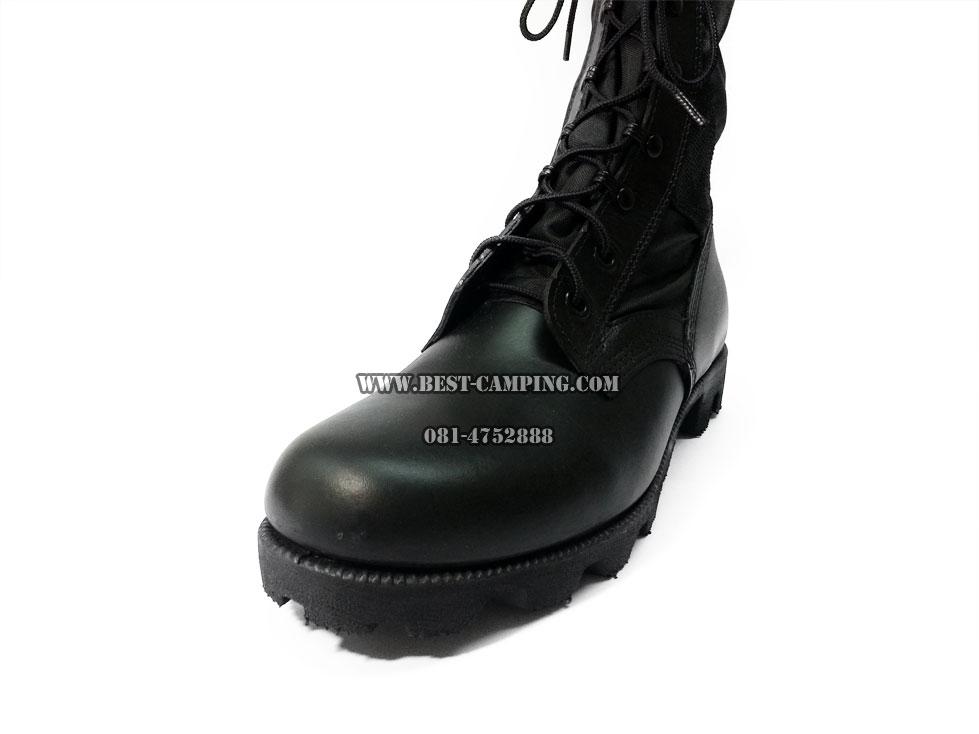 รองเท้าจังเกิ้ลสีดำโรเสริ์ท,BOOTS,HOT WEATHER,Black Nylon and Leather