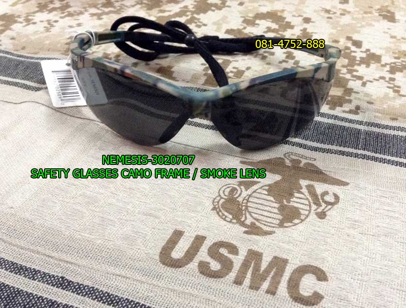แว่นตาเซฟตี้ , แว่นตายิงปืน, แว่นตา NEMESIS-3020707 Safety Glasses,Camo Frame, Smoke Lens (CAMO/SMOK
