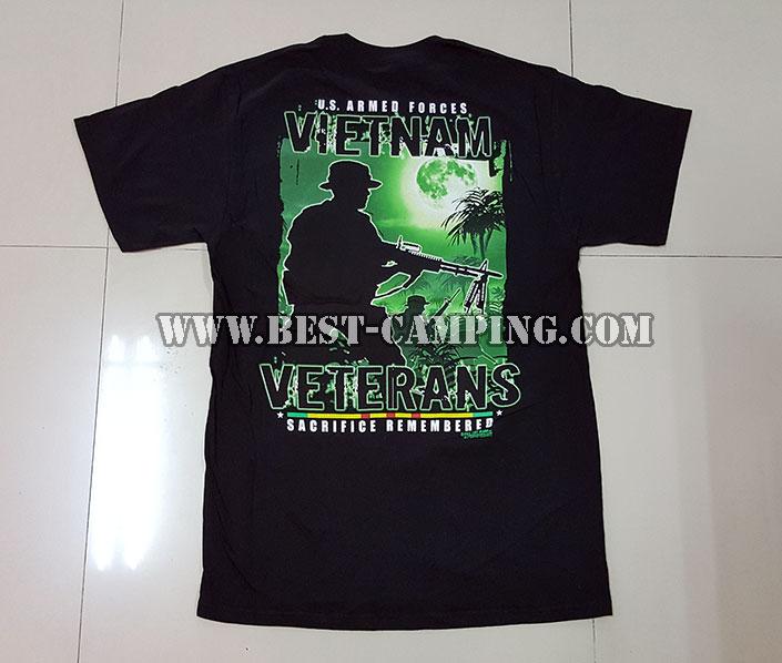 เสื้อยืด  T-Shirt ,Battle Space ลาย U.S.ARMED FORCES VIETNAM
