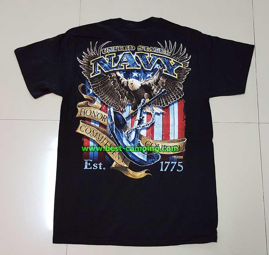 เสื้อยืด  T-Shirt ,Battle Space ลาย NAVY  UNITED STATES EST.1775
