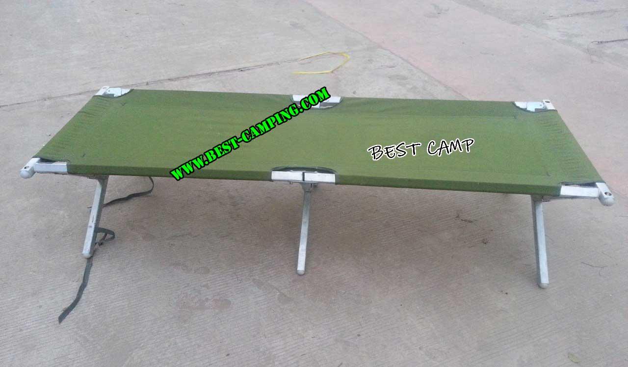 เตียงสนาม US สีเขียว,ALUMINIUM FRAME FOLDING CAMP BED US GREEN(มือสองสภาพดี)