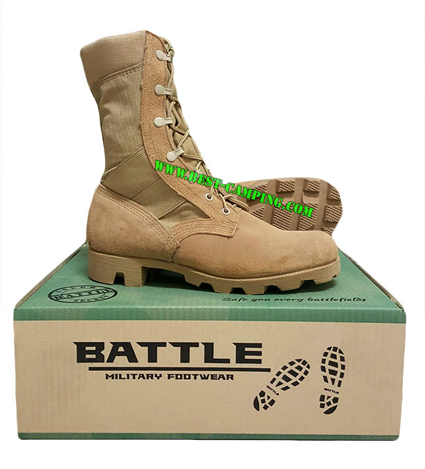 รองเท้าจังเกิ้ลทะเลทรายขอบนวม,โรเสริท์,BOOTS,HOT WEATHER, (Tan,Jungle Mil Spec Boot Ro Search )