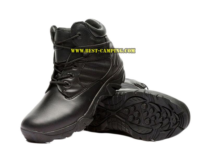 รองเท้า DELTA SHORT BLACK INCH, รองเท้าข้อสั้นเดลต้าสีดำ 6 นิ้ว