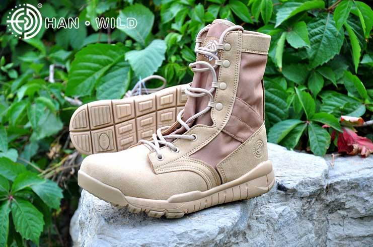 รองเท้าแทคติคอล,Tactical Boots HW07 Ultralight DESERT  Four seasons