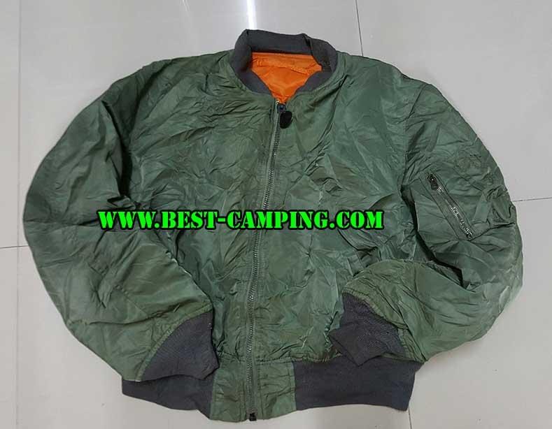 เสื้อแจ็คเก็ตไฟท์เอ็มเอวัน,สีเขียว,JACKET,FLYER\'S MAN INTERMEDIATE,MA-1,ALPHA GREEN(มือสอง)