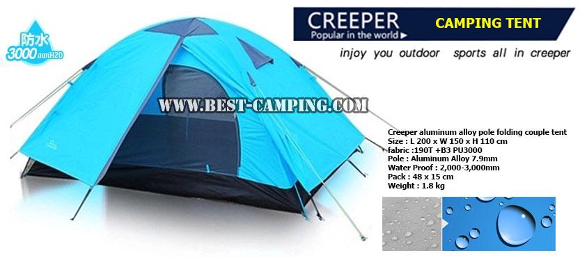 เต็นท์โดม Creeper,Aluminum Alloy,เต็นท์สนาม,เต็นท์แคมป์ปิ้ง,เต็นท์เดินป่า,สีฟ้าอ่อน