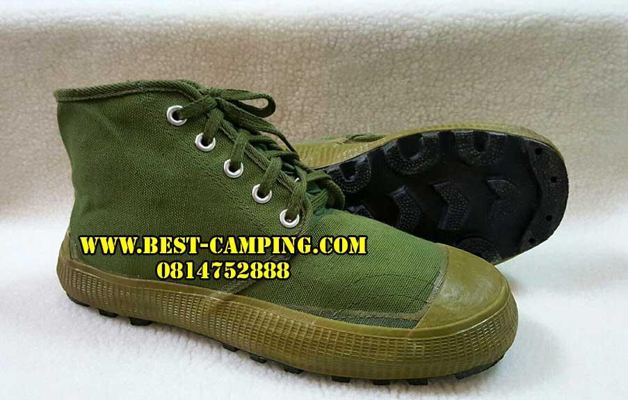 รองเท้าเดินป่าจีนแดง,รองเท้าจีนแดง,สีเขียว