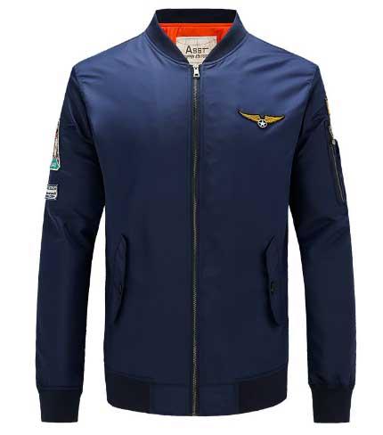 เสื้อแจ็คเก็ตนักบิน ASSTseries สีกรมท่า, Jacket Pilot MA1,Green,Navy,Black,Orange