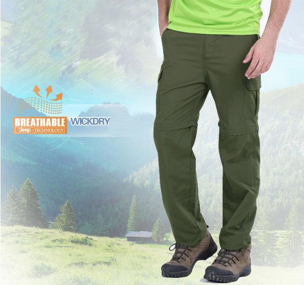 JEEP Quick drying,กางเกงเดินป่าผ้าแห้งไวถอดขาได้,เดินทางท่องเที่ยว,ผ้าแห้งไว