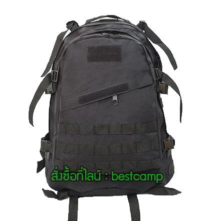เป้ทหาร 3D,กระเป๋าเป้เดินทางท่องเที่ยว,สีดำ