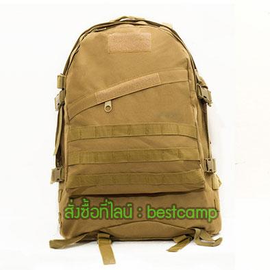 เป้ทหาร 3D,กระเป๋าเป้เดินทางท่องเที่ยว,สีน้ำตาล