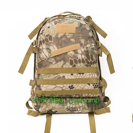 เป้ทหาร 3D,กระเป๋าเป้เดินทางท่องเที่ยว,ลายเปลือกไม้เขียว