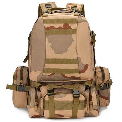 เป้ทหารแม่ลูก Multi function 4 in 1 (50L) ลายพรางทะเลทราย