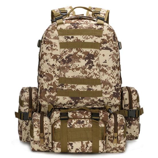 เป้ทหารแม่ลูก Multi function 4 in 1 (50L) ลายดิจิตอลทะเลทราย
