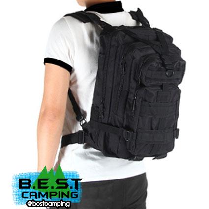 เป้ทหาร 3P,กระเป๋าเป้เดินทางท่องเที่ยว,สีดำ