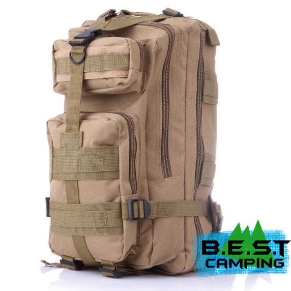 เป้ทหาร 3P,กระเป๋าเป้เดินทางท่องเที่ยว,สีน้ำตาล