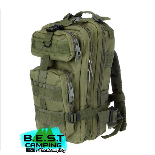 เป้ทหาร 3P,กระเป๋าเป้เดินทางท่องเที่ยว,สีเขียว