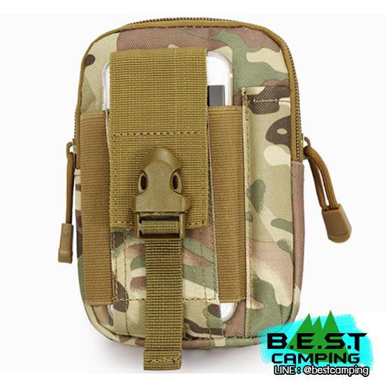 กระเป๋าคาดเอวยุทธวิธี,Tactical Molle Waist Bag ลายมัลติแคม