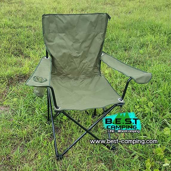 เก้าอี้สนามสีเขียว,เก้าอี้แคมป์ปิ้ง,เก้าอี้เดินป่า,เก้าอี้ Outdoor,เก้าอี้รวบขา+ซองเก้าอี้(size L)