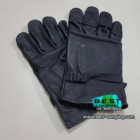 ถุงมือusสีดำ,ถุงมือทหารหนังสีดำ,GLOVES, LIGHT DUTY